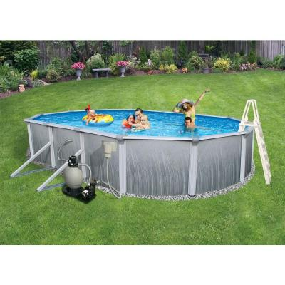 Martinique Oval Above Ground Pool Package 52 in. Deep