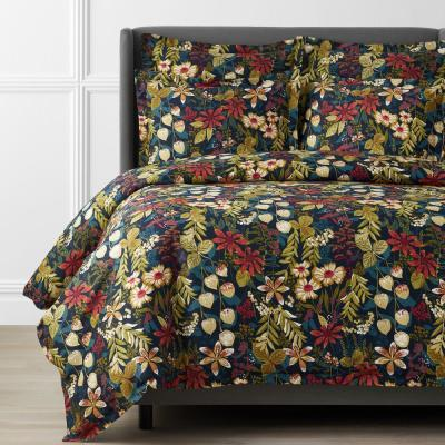 Legends Hotel Fall Floral Multicolored Sateen Duvet Cover
