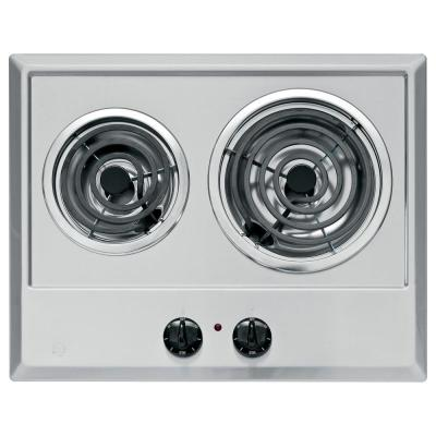 GE 21 in. Coil Electric Cooktop in...