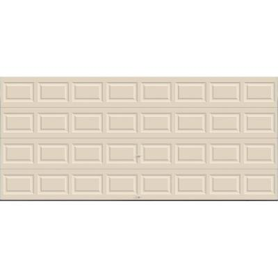 Clopay Premium Series 16 ft. x 7 ft. 12.9 R-Value Intellicore Insulated Solid Almond Garage Door