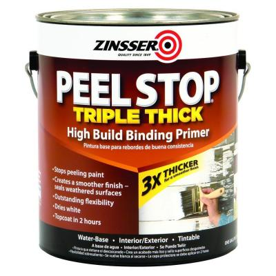 Zinsser 1 gal peel stop triple thick white binding primer for Exterior wood water based primer