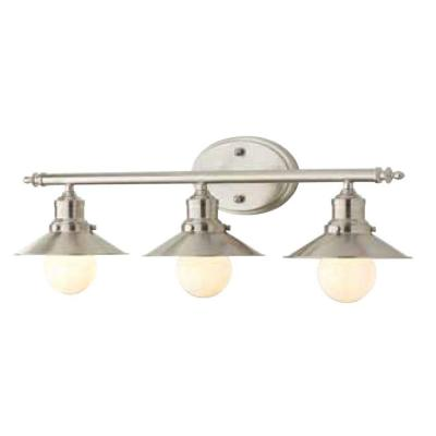 Home Decorators Collection 3-Light Brushed Nickel Retro Vanity Light-1001564508 - The Home Depot