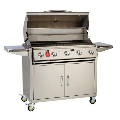 Bull outdoor products 5 burner bullet liquid propane grill bbq cart 100522335 the home depot - Home depot bbq propane ...