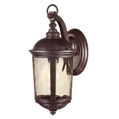 Home Decorators Collection Leeds 1-Light Mystic Bronze Outdoor Wall Lantern