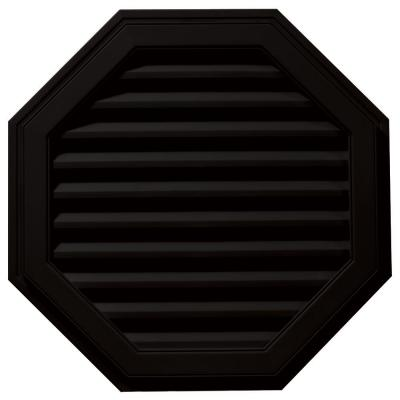 32 in. Octagon Gable Vent in Black Product Photo