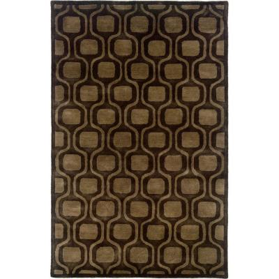 Contemporary Brown 7 ft. 9 in. x 9 ft. 9 in.