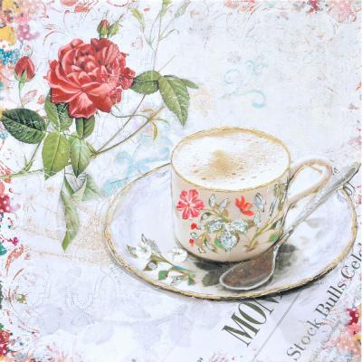 "28 in. x 28 in. ""Tea Time"" Printed Contemporary Artwork"