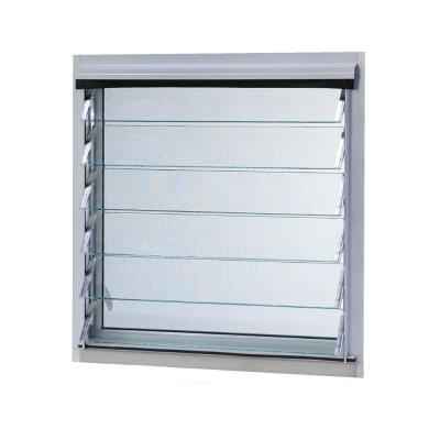 Tafco Aluminum Jalousie Utility Louver Window White with Screen