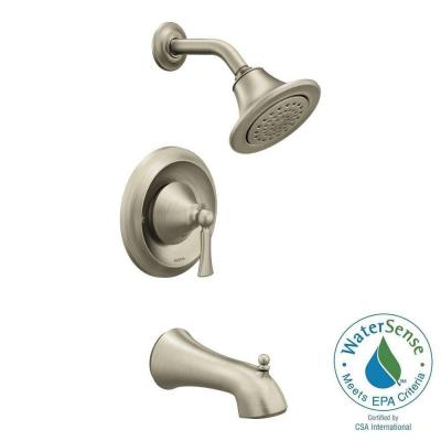 Wynford Single-Handle 1-Spray Posi-Temp Tub and Shower Faucet Trim Kit in Brushed Nickel (Valve Sold Separately) Product Photo