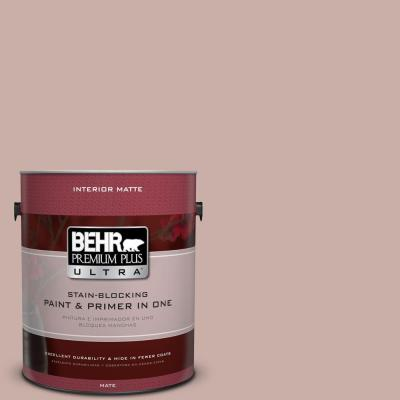 1 gal. #HDC-CT-07A Vintage Tea Rose Flat Interior Paint