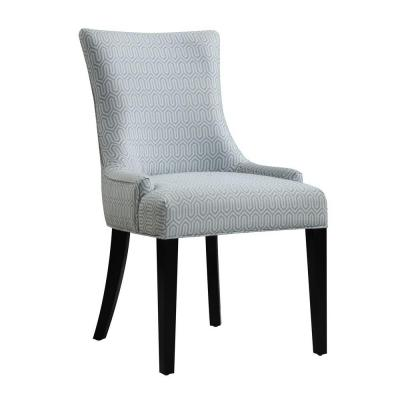 Upholstered Fabric Accent Dining Chair in Gray Product Photo