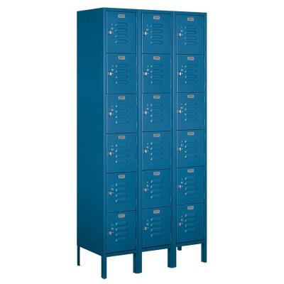 Salsbury Industries 66000 Series 36 in. W x 78 in. H x 15 in. D Six Tier Box Style Metal Locker Assembled in Blue