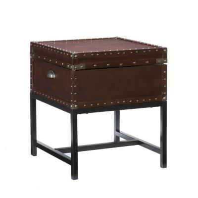 Home Decorators Collection Voyager Espresso Storage End Table