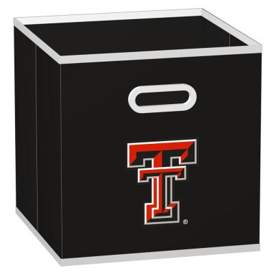 MyOwnersBox College STOREITS Texas Tech University 10-1/2 in. x 10-1/2 in. x 11 in. Black Fabric Storage Drawer