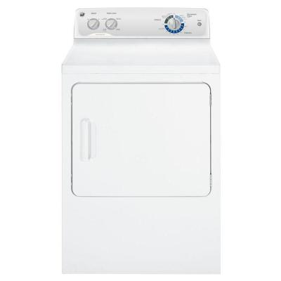 GE 6.8 cu. ft. Electric Dryer in White