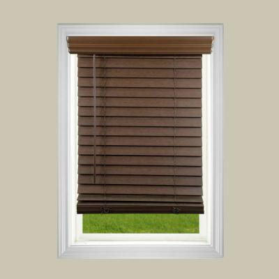2 in. Cordless Faux Wood Blind