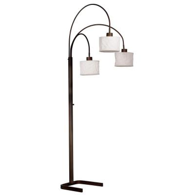 Crush 82 in. 3-Light Oil-Rubbed Bronze Arc Lamp