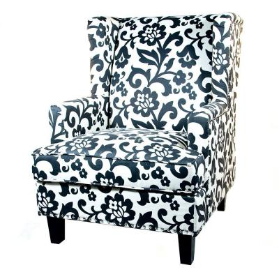 Home Decorators Collection Vincent Dove 29 in. W Wing Back Chair