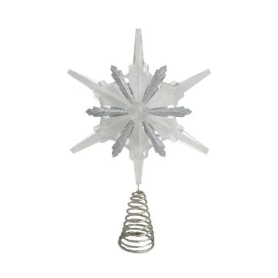 Martha Stewart Living Holiday Frost 13 in. Christmas Acrylic Snowflake Tree Topper