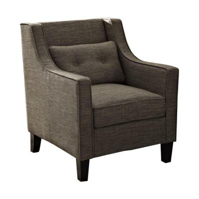Ashland Linen Look Polyester Club Chair in Fawn Brown Product Photo