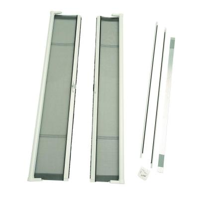 72 in. x 79 in. Brisa White Short Height Double Door Kit Retractable Screen Door Product Photo