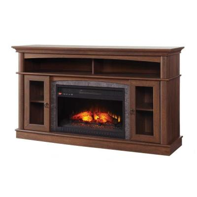 Home Decorators Collection Ashurst 46 In Media Console Infrared Electric Fireplace In Walnut Finish