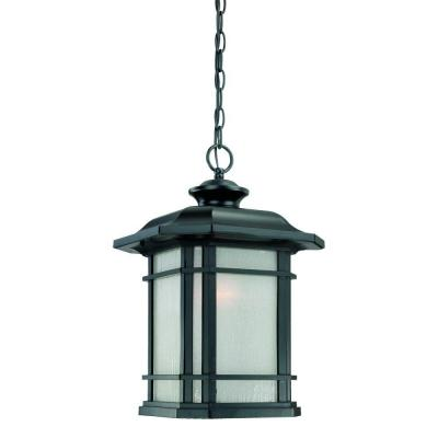 Acclaim Lighting Somerset Collection Hanging Outdoor 1-Light Matte Black Light Fixture