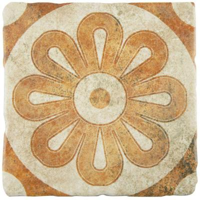 Costa Arena Decor Zinnia 7-3/4 in. x 7-3/4 in. Ceramic Wall and Floor Tile (11.5 sq. ft. / case) Product Photo
