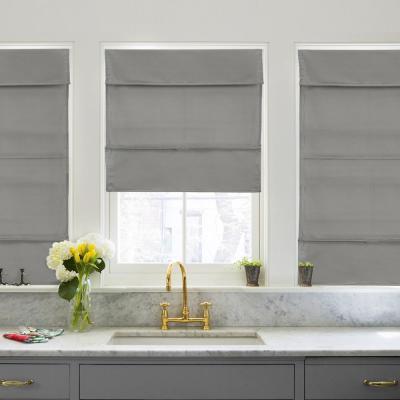 Cordless Light Filtering UV Protection Polyester Roman Shade