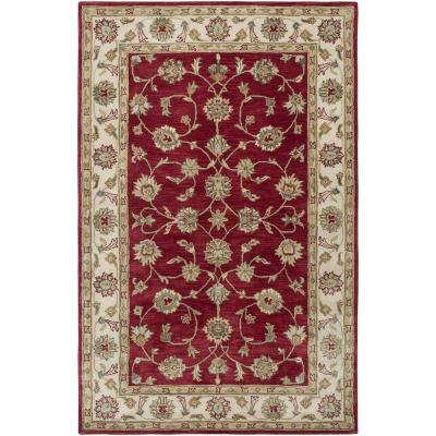 LR Resources Heritage Red/Ivory 7 ft. 9 in. x 9 ft. 9 in. Traditional Indoor Area Rug