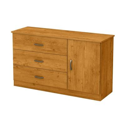 Libra 3-Drawer Dresser with Door in Country Pine Product Photo