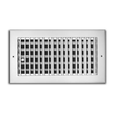 12 in. x 6 in. Adjustable 1 Way Wall/Ceiling Register