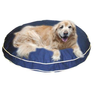 "Large Classic Twill ""Round-A-Bout"" Bed - Blue 01308"