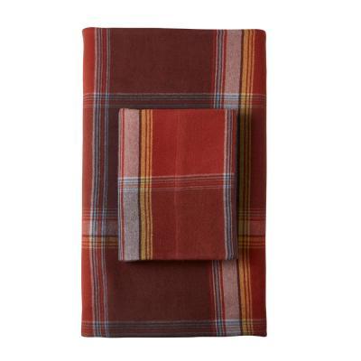 Preston Yarn-Dyed Plaid Flannel Fitted Sheet