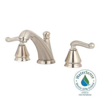 American Standard Symphony 8 in. Widespread 2-Handle Mid-Arc Bathroom Faucet in Satin Nickel with Speed Connect Drain