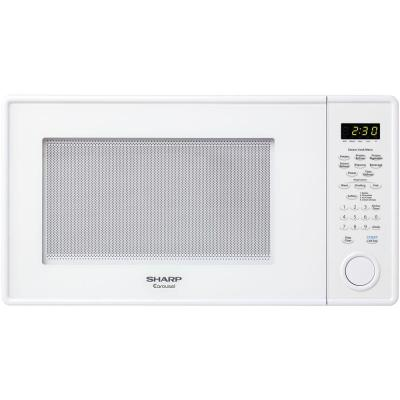 ... Carousel 1.3 cu. ft. Countertop Microwave in White with Sensor Cooking