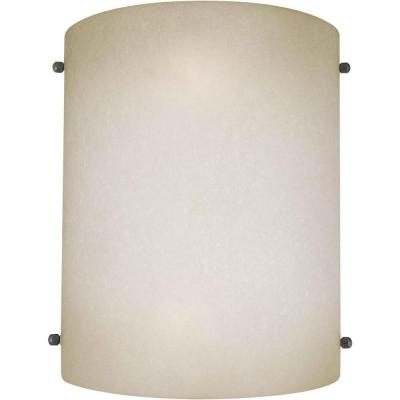 Lucian 2-Light Brushed Nickel Sconce with Umber Mist Glass
