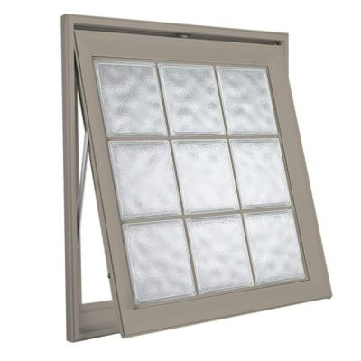Hy lite acrylic block awning vinyl window 8aw2929dwlh1g for Plastic glass block windows