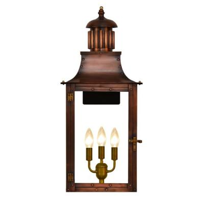 Filament Design Madison 3-Light Copper Outdoor Wall Lantern