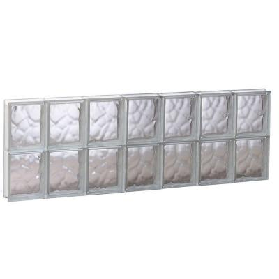 40.125 in. x 15.5 in. x 3.125 in. Wave Pattern Non-Vented Glass Block Window Product Photo