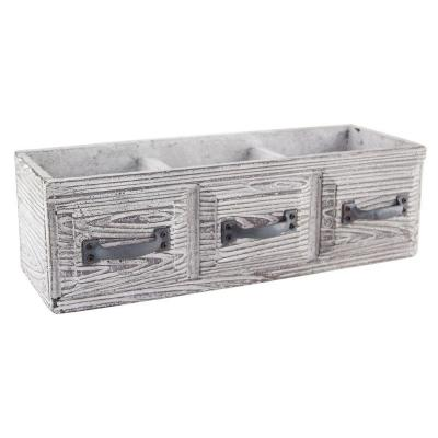 14-1/2 in. x 5 in. x 4-1/2 in. Cement Vintage Drawer