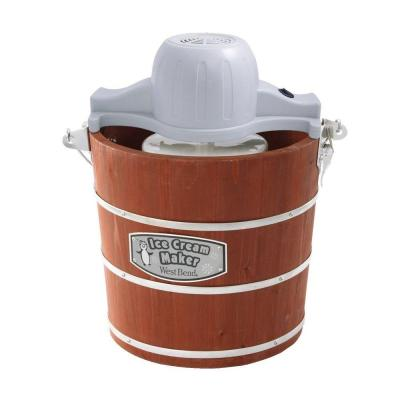 West Bend 4 qt. Wooden Bucket Ice Cream Maker-DISCONTINUED