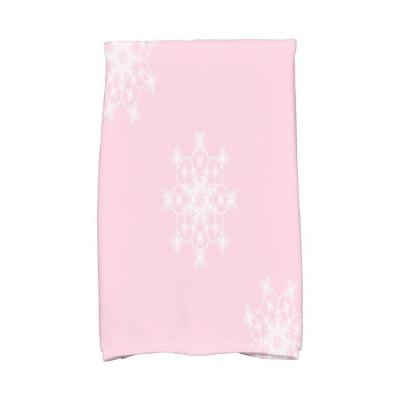16 in. x 25 in. Falling Snow Holiday Geometric Print Kitchen Towel