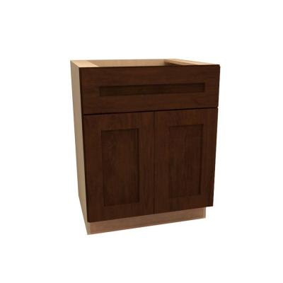 24x34.5x24 in. Franklin Assembled Base Cabinet with 2 Doors 1 Drawer