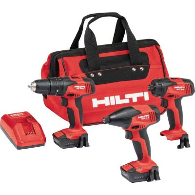 Hilti 12-Volt Lithium-Ion Cordless Rotary Impact Driver/Impact Driver/Drill Driver Combo Kit with CA-B12 Adapter (3-Tool)