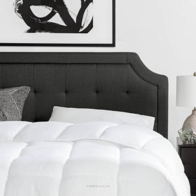 Upholstered Scoop-Edge Headboard with Square Tufting