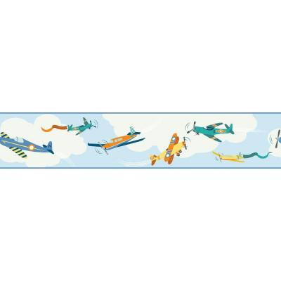 9 in. H Waverly Kids Cloud Cover Border Product Photo