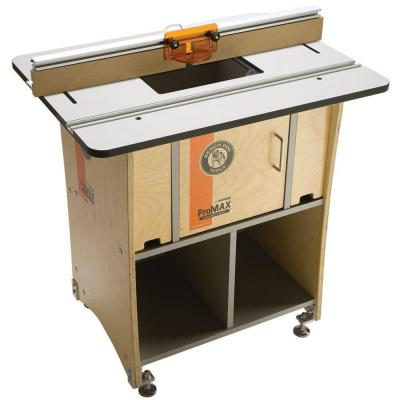 Bench Dog Protop 24 In X 32 In Phenolic Router Table With Baltic Birch Cabinet And 32 In
