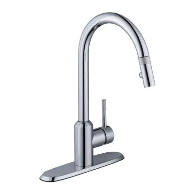 Schon Axel Single-Handle Pull-Down Sprayer Kitchen Faucet in Chrome