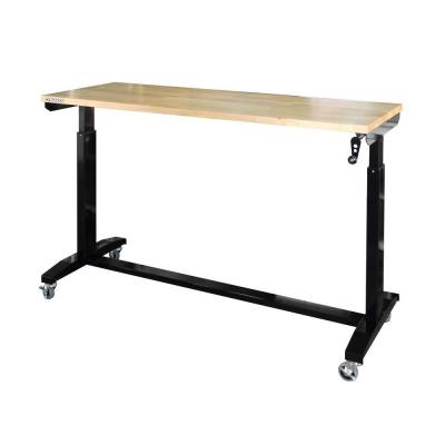 62 in. x 24 in. D Work Table, Black